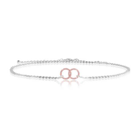 Joma Jewellery Sparkling Infinity Rose Gold Pave Circle Trio 2800 - EOL