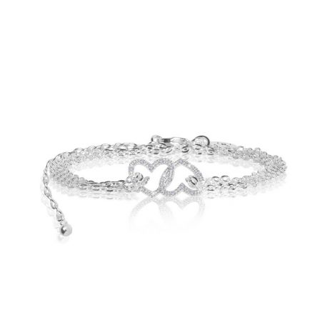 Joma Jewellery Sparkling Infinity Love Pave Heart Trio 2801 - EOL