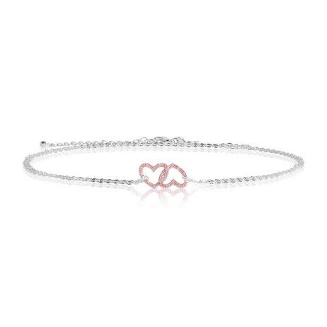 Joma Jewellery Sparkling Love Rose Gold Heart Trio 2802