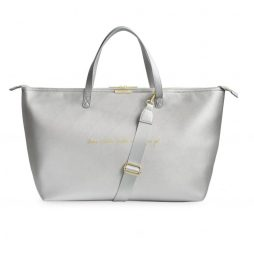 Katie Loxton Leave A Little Sparkle Weekend Bag Metallic Silver KLB408