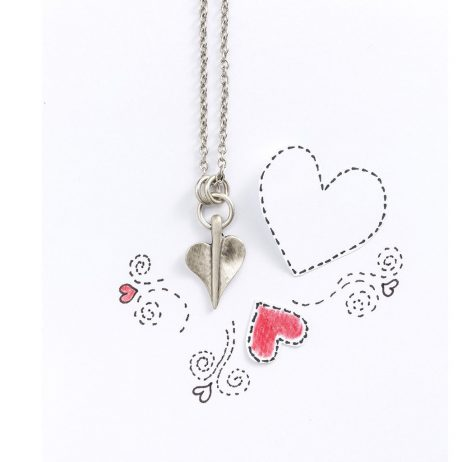 Danon Jewellery Silver Leaf of Love Long Necklace