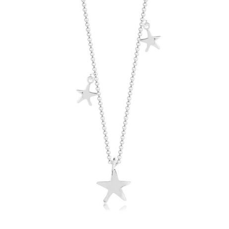 Joma Jewellery Aria Silver Puffed Star Pendants Necklace 2579