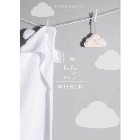 Katie Loxton Baby Bear Towel (white) BA0010