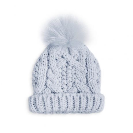 Katie Loxton Baby Cable Knit Bobble Hat (blue) BA0020