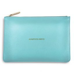 Katie Loxton Adventure Awaits Pouch (metallic aqua) KLB096