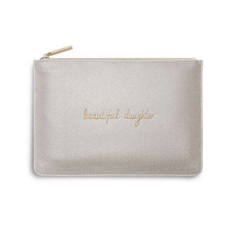 Katie Loxton Beautiful Daughter Champagne Glistening Pouch KLB349