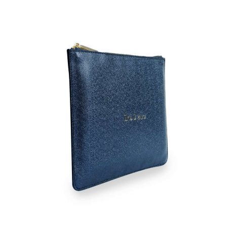 Katie Loxton Time to Shine Blue Glistening Pouch KLB351