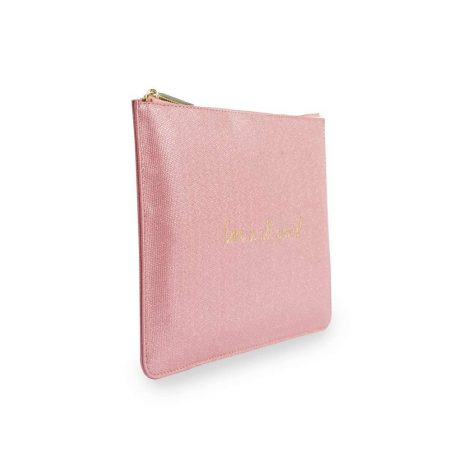 Katie Loxton Love Is All Around Pink Glistening Pouch KLB353