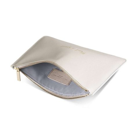 Katie Loxton Maid of Honour Pouch (pearlescent white) KLB354