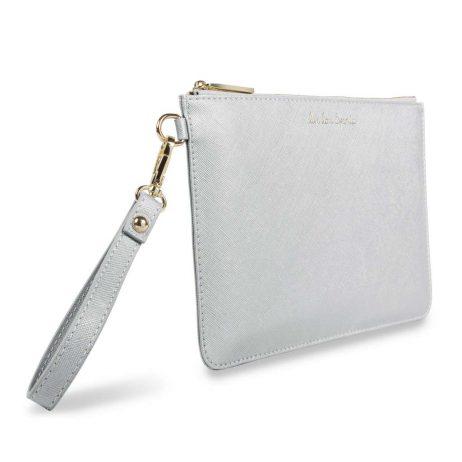 Katie Loxton Secret Message Live Love Sparkle Silver Pouch KLB364