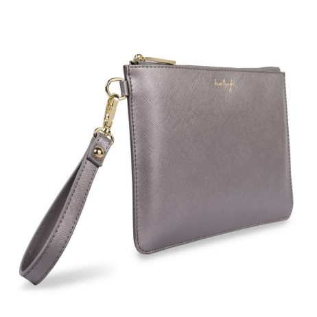 Katie Loxton Secret Message Shine Bright Charcoal Pouch KLB365