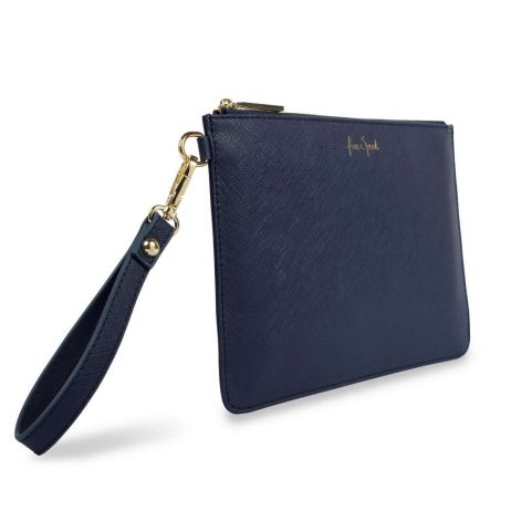 Katie Loxton Secret Message Free Spirit Navy Pouch KLB366