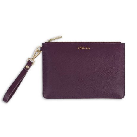 Katie Loxton Secret Message A Little Love Mulberry Pouch KLB367
