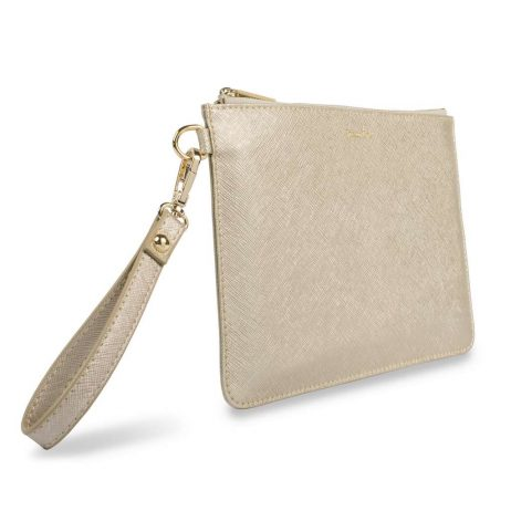 Katie Loxton Secret Message Prosecco Time Gold Pouch KLB368