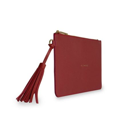 Katie Loxton Florrie Hey Gorgeous Ruby Red Tassel Pouch KLB369