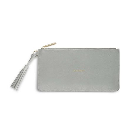 Katie Loxton Florrie Oh So Pretty Pale Grey Tassel Pouch KLB372