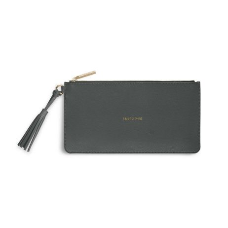 Katie Loxton Florrie Time To Shine Charcoal Tassel Pouch KLB374