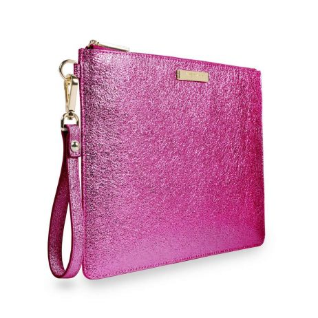 Katie Loxton Metallic Pink Krush Klutch KLB375