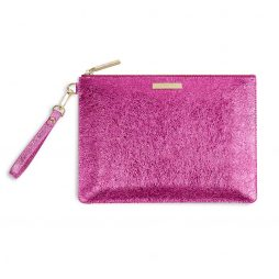 Katie Loxton Metallic Pink Krush Klutch KLB375