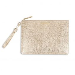 Katie Loxton Metallic Gold Krush Klutch KLB376