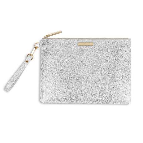 Katie Loxton Metallic Silver Krush Klutch KLB378