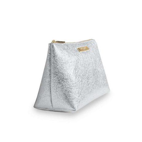 Katie Loxton Metallic Silver Mia Make-up Bag KLB384