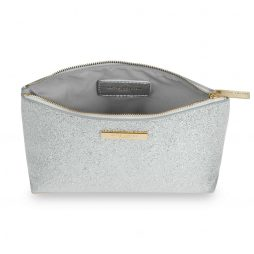 Katie Loxton Metallic Silver Mia Make-up Bag KLB384