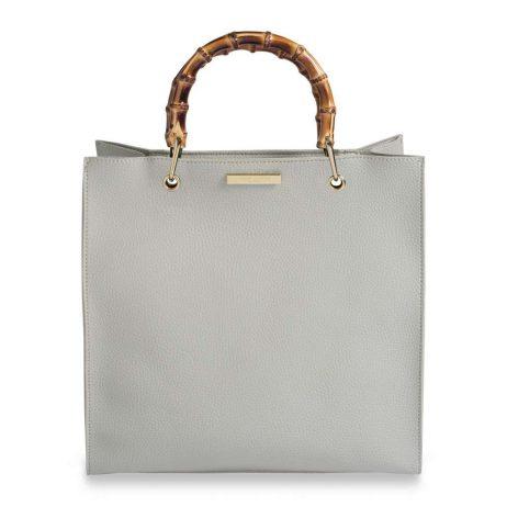 Katie Loxton Grey Amelie Bamboo Handbag KLB400