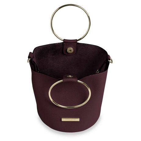 Katie Loxton Burgundy Suki Bucket Bag KLB402