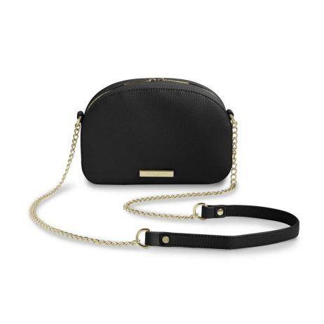 Katie Loxton Black Half Moon Bag KLB405
