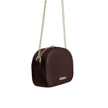 Katie Loxton Burgundy Half Moon Bag KLB406