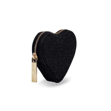 Katie Loxton Black Glittery Heart Coin Purse KLB409