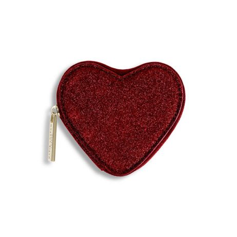 Katie Loxton Ruby Red Glittery Heart Coin Purse KLB410