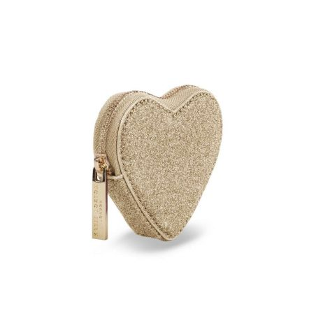 Katie Loxton Champagne Glittery Heart Coin Purse KLB411