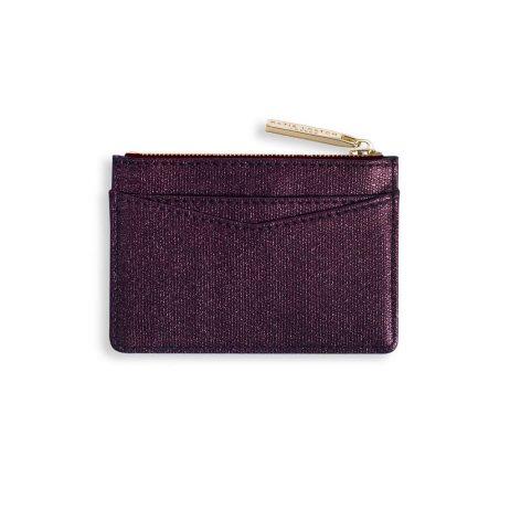 Katie Loxton Alexa Burgundy Shimmer Card Holder KLB416