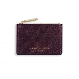 Katie Loxton Alexa Burgundy Shimmer Card Holder KLB416 |