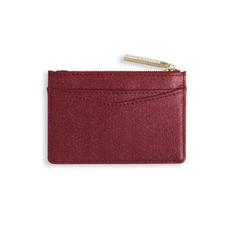 Katie Loxton Alexa Ruby Red Shimmer Card Holder KLB417