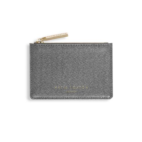 Katie Loxton Alexa Charcoal Shimmer Card Holder KLB418