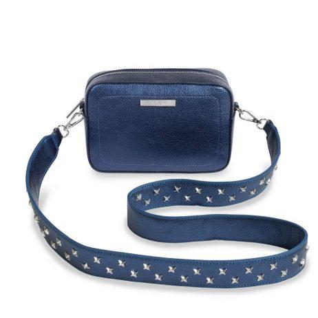 Katie Loxton Metallic Cobalt Blue Luna Loulou Cross-body Bag KLB422 - EOL