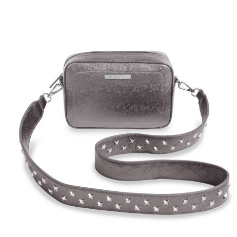 Katie Loxton Metallic Charcoal Luna Loulou Cross-body Bag KLB423 - eol