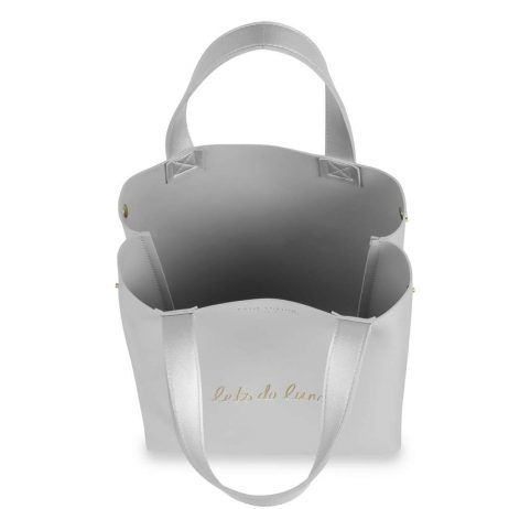 Katie Loxton Lets Do Lunch Luxury Silver Lunch Bag KLB427