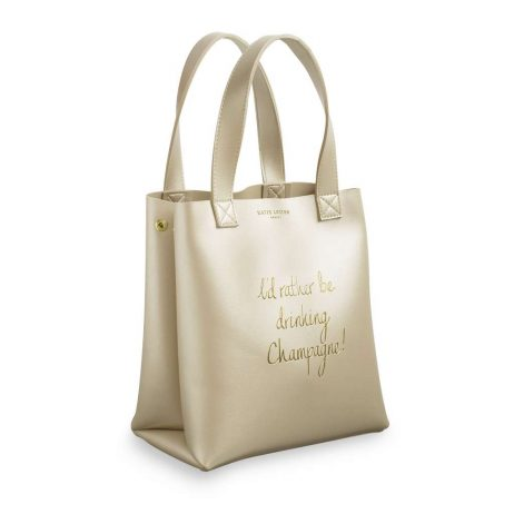 Katie Loxton Drinking Champagne Luxury Gold Lunch Bag KLB428