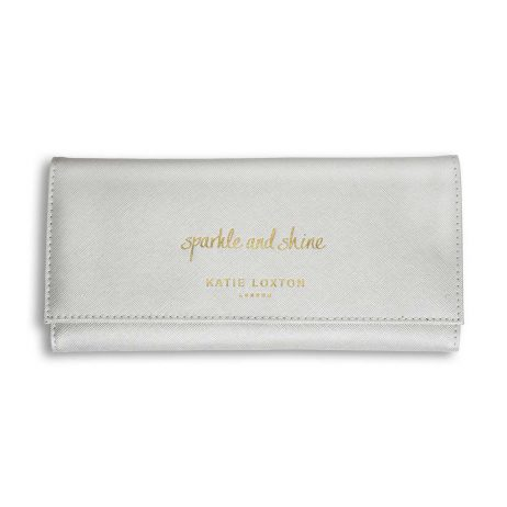 Katie Loxton Sparkle and Shine Jewellery Roll (metallic silver) KLB430