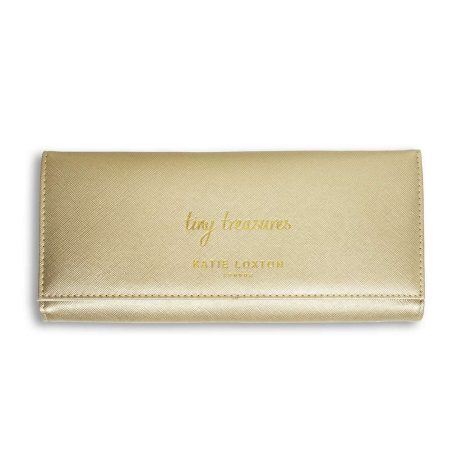 Katie Loxton Tiny Treasures Jewellery Roll (metallic gold) KLB431