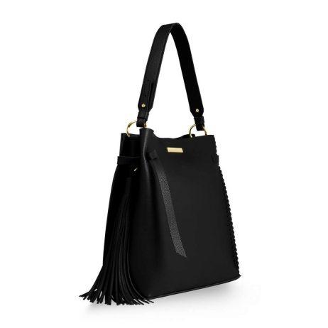 Katie Loxton Black Florrie Tassel Handbag KLB433