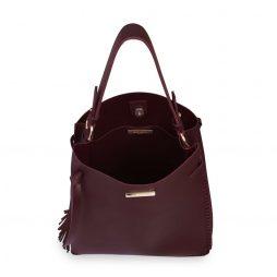 Katie Loxton Burgundy Florrie Tassel Handbag KLB434