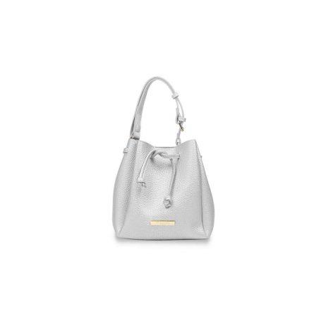 Katie Loxton Mini Chloe Bucket Bag Metallic Silver KLB436