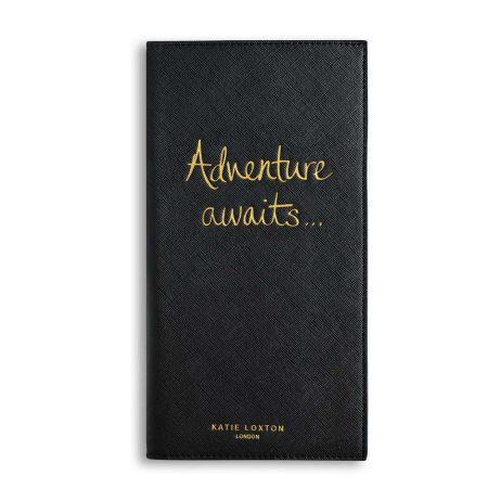 Katie Loxton Black Travel Wallet Adventure Awaits KLB437