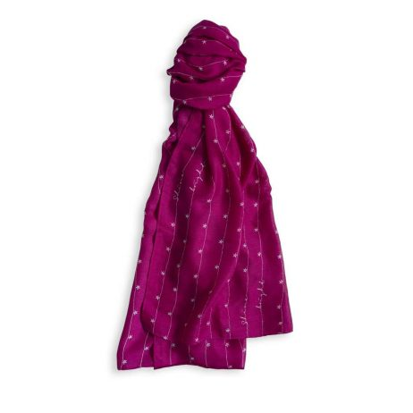 Katie Loxton Shine Bright Sentiment Scarf (berry pink) KLS106