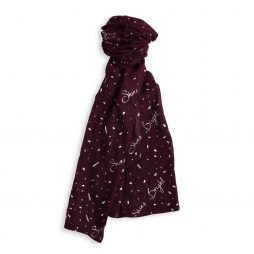 Katie Loxton Shine Bright Sentiment Scarf (burgundy) KLS110